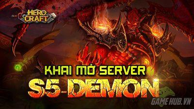 HeroCraft tặng giftcode khủng khu mở sever Demon1