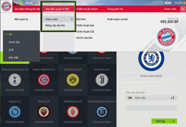 Hướng dẫn nhanh tính năng Team Color trong FIFA Online 4 4