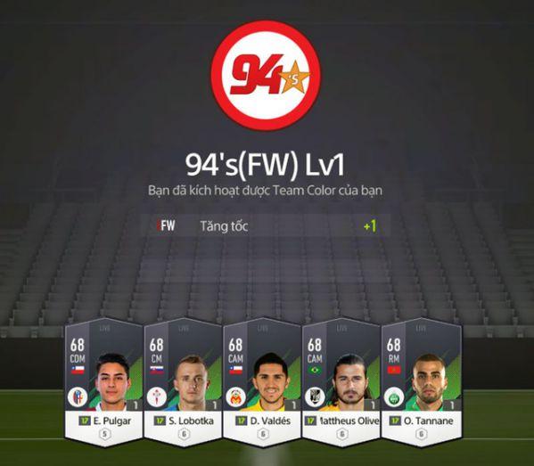 Hướng dẫn nhanh tính năng Team Color trong FIFA Online 4 5