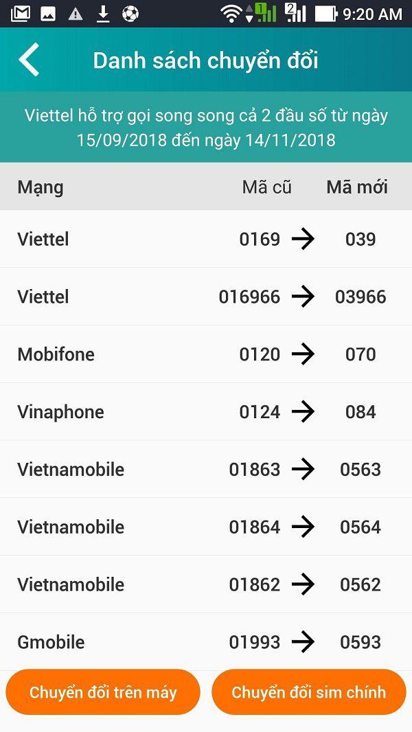Hướng dẫn đổi đầu số 11 số về 10 số trong danh bạ bằng My Viettel 4