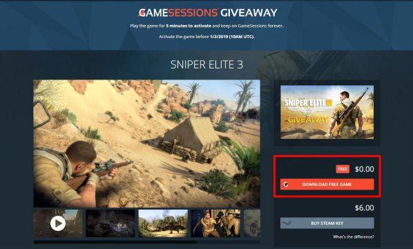 """Hướng dẫn cách nhận """"Sniper Elite 3"""" miễn phí 100% trước 2/1/2019 1"""