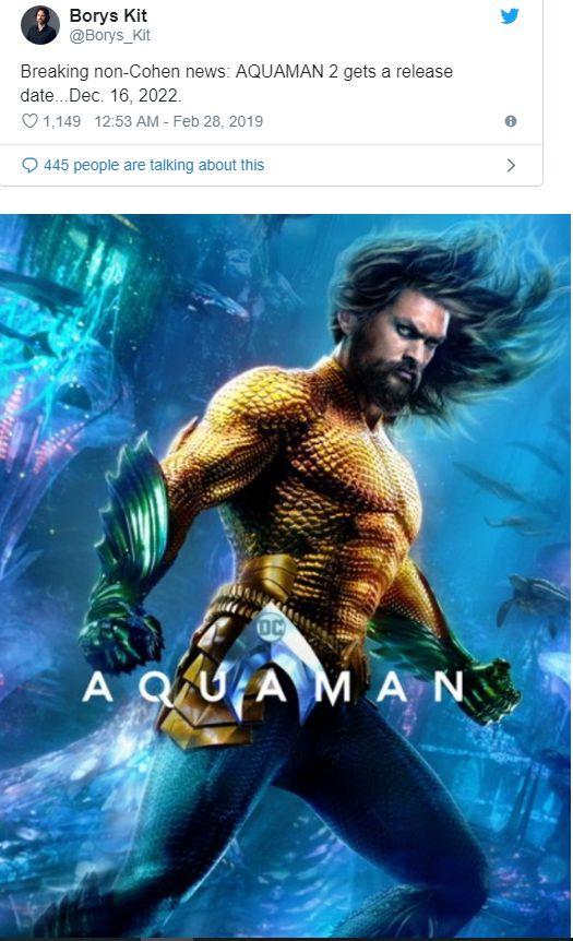 """""""Aquaman 2"""" sẽ ra mắt vào tháng 12/2022 và thiên về kinh dị rùng rợn 1"""