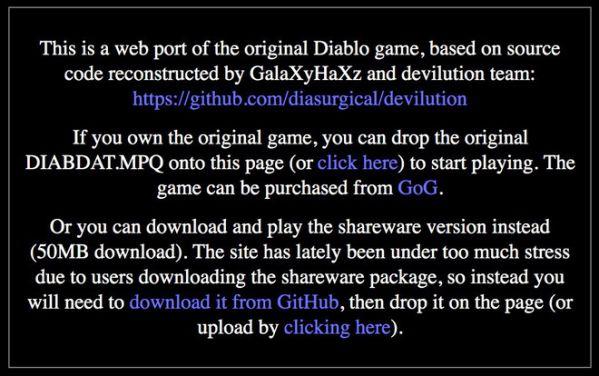 Chơi ngay Huyền thoại Diablo 1 trực tiếp trên trình duyệt máy tính 2