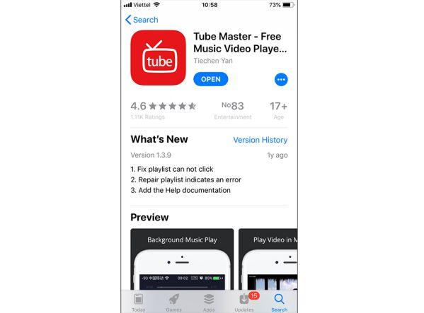 Các ứng dụng nghe Youtube khi tắt màn hình miễn phí cho iPhone 2