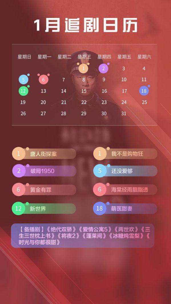 Lịch lên sóng của các phim Trung Quốc hot tháng 1 năm 2020 1