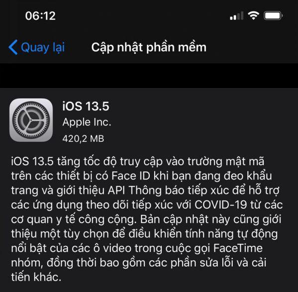 iOS 13.5 bản chính thức có những tính năng gì trong mùa dịch Covid?