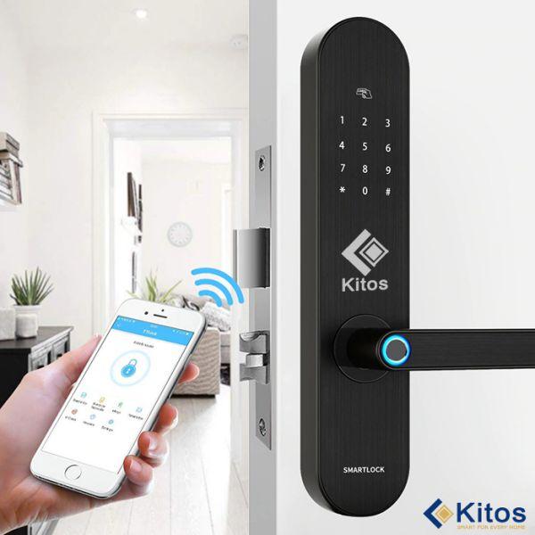 Top 5 dòng khóa cửa thông minh vân tay Kitos nên mua nhất 1