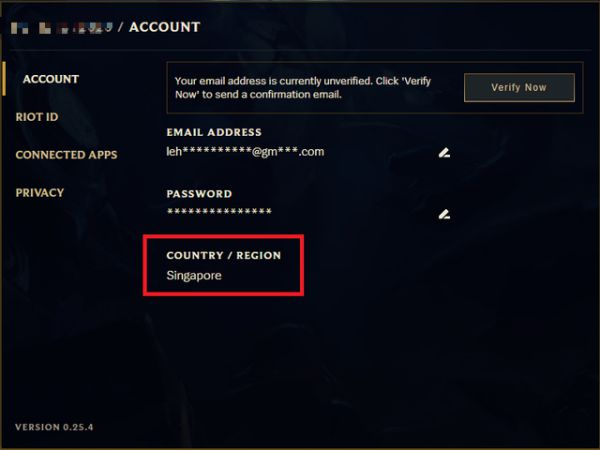 """Sửa lỗi """"Unable to login with an account from this region"""" ở LM Tốc Chiến 4"""