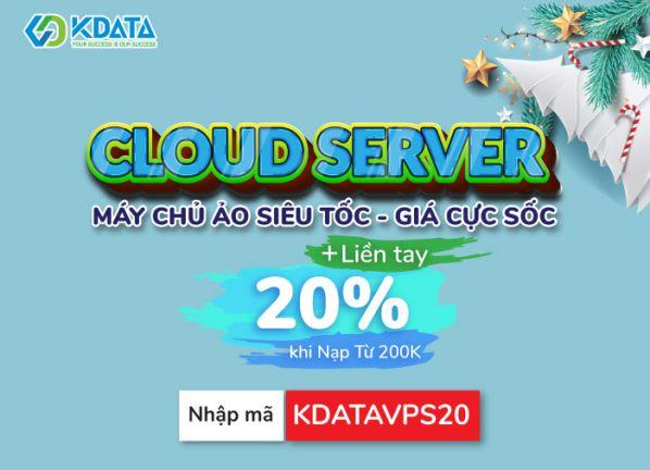 Giảm 40% Hosting, Domain .VN giá 550k, Cloud Server tặng 20% 1