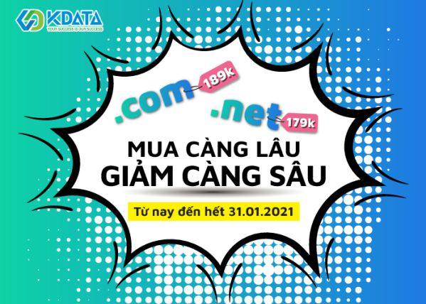 Domain .COM và .NET đang khuyến mại với giá cực sốc 1