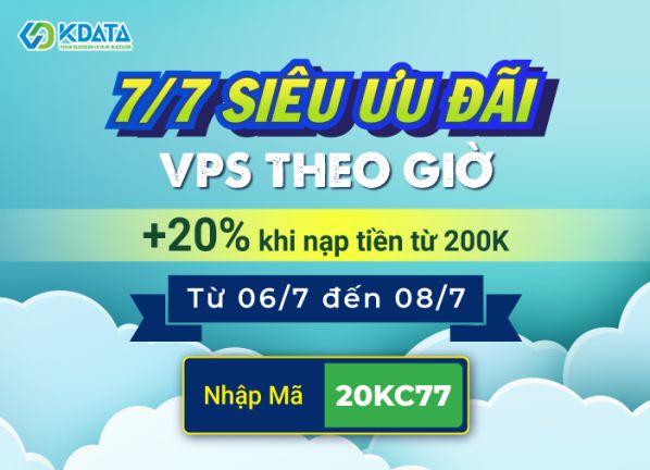 Quà gõ cửa: +20% khi nạp tiền vào tài khoản Cloud thuê VPS theo giờ1